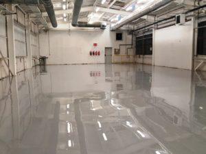 Завършен вид, антистатично подово покритие.